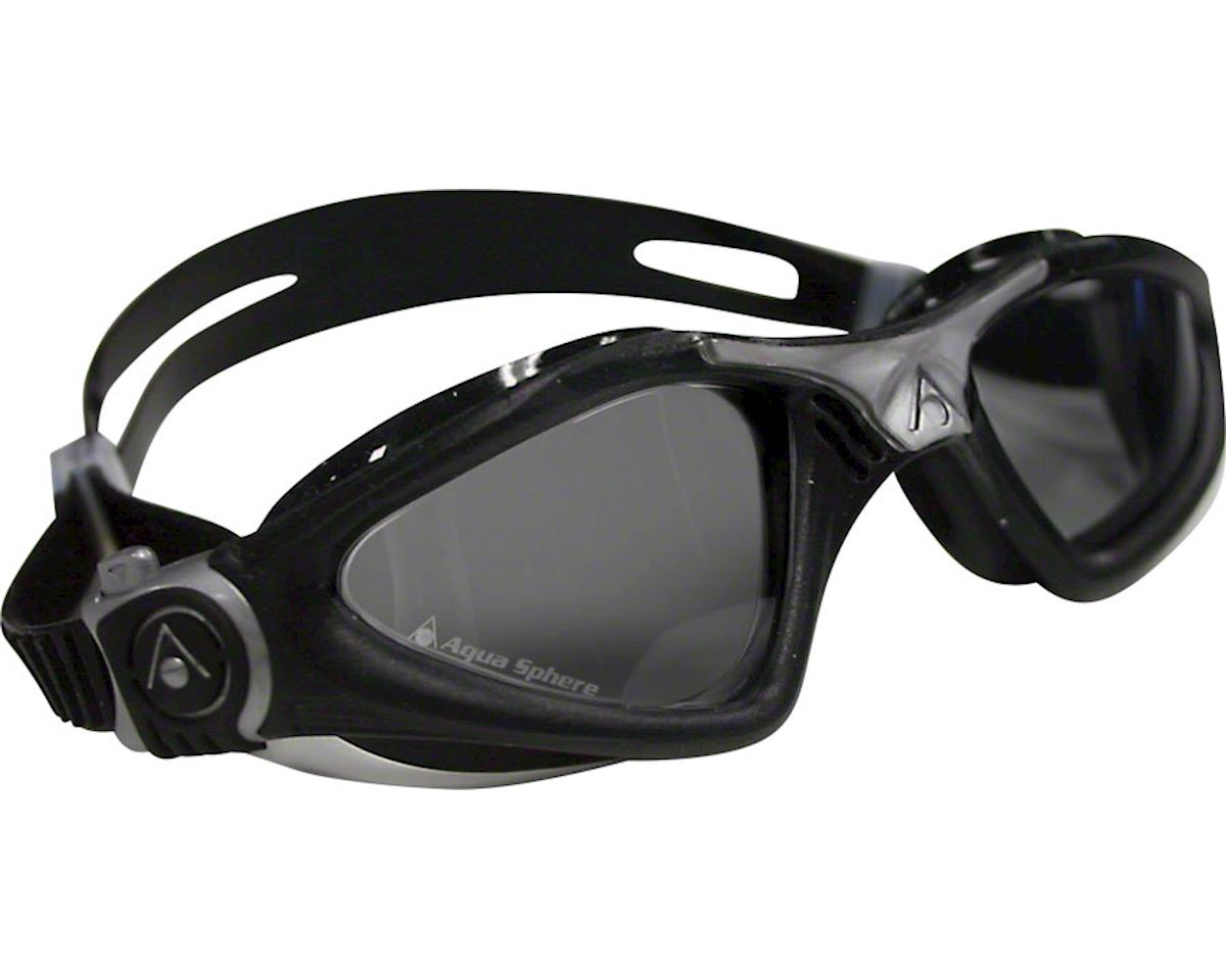 Aqua Sphere Kayenne Goggles: Black/Silver with Smoke Lens