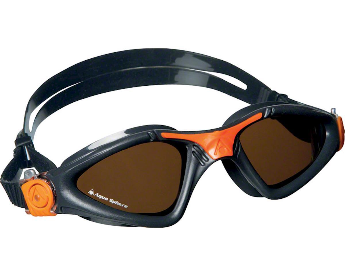 Aqua Sphere Kayenne Goggles: Gray/Orange with Polarized Lens