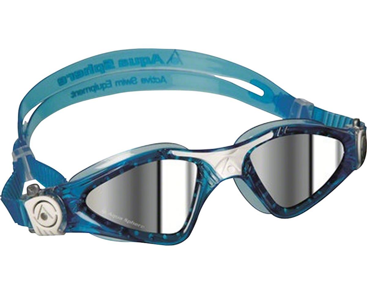 Aqua Sphere Kayenne SF Goggles: Aqua/White with Mirror Lens