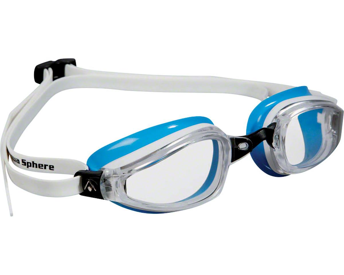 Aqua Sphere Michael Phelps K-180 Lady Goggles: White/Blue with Clear Lens