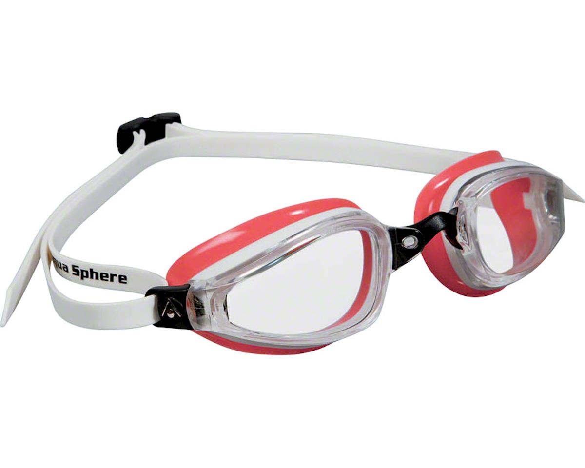 Aqua Sphere Michael Phelps K-180 Lady Goggles: White/Coral with Clear Lens