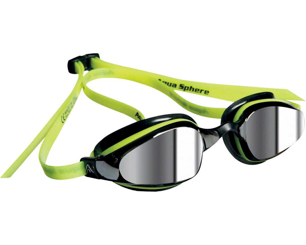 Aqua Sphere Michael Phelps K-180 Goggles: Yellow/Black with Mirror Lens