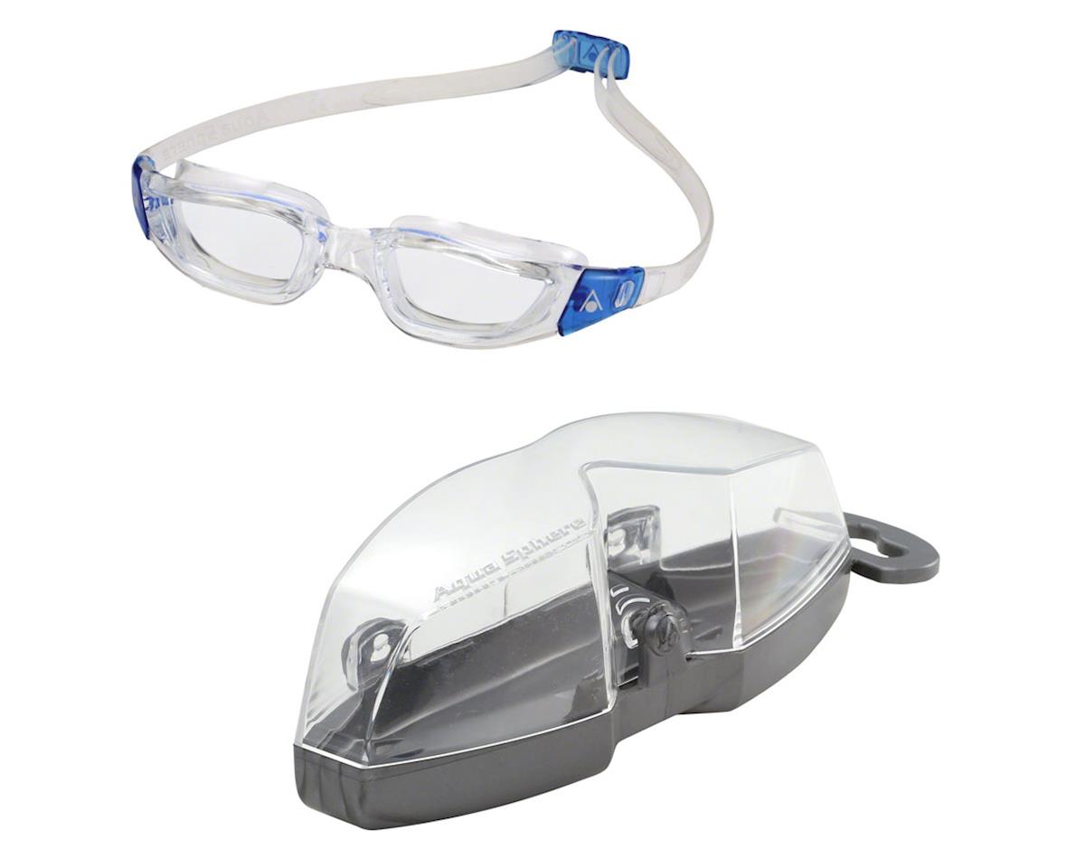 Aqua Sphere Kameleon Goggles: Clear/Blue with Clear Lens