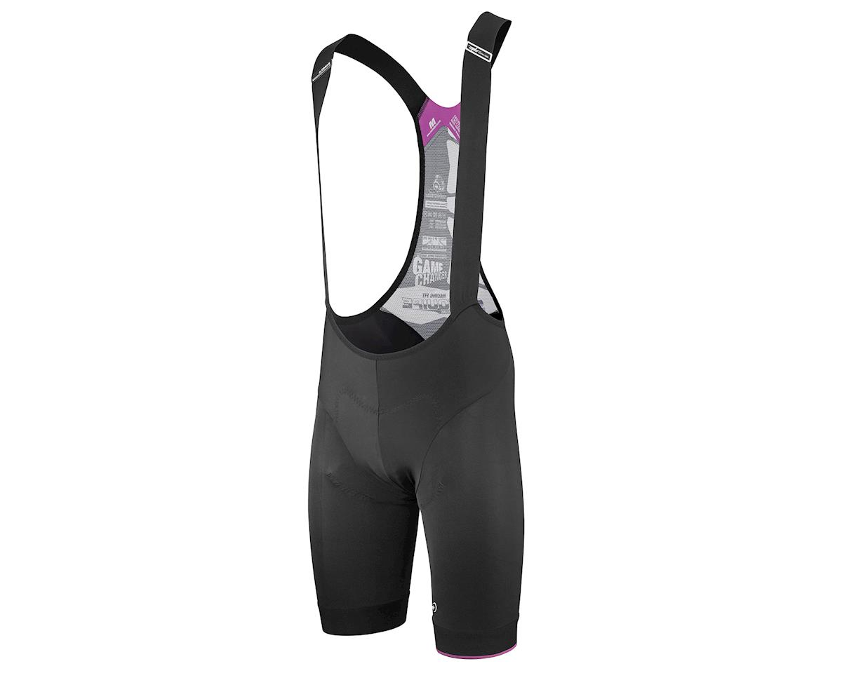 Assos T.equipe s7 Cycling Bib Shorts (Black Volkanga) (M)