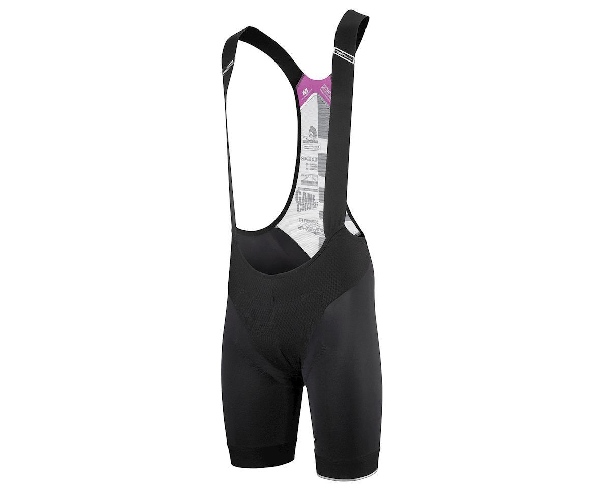 Assos T.cento s7 Cycling Bib Shorts (Black Volkanga) (XL)
