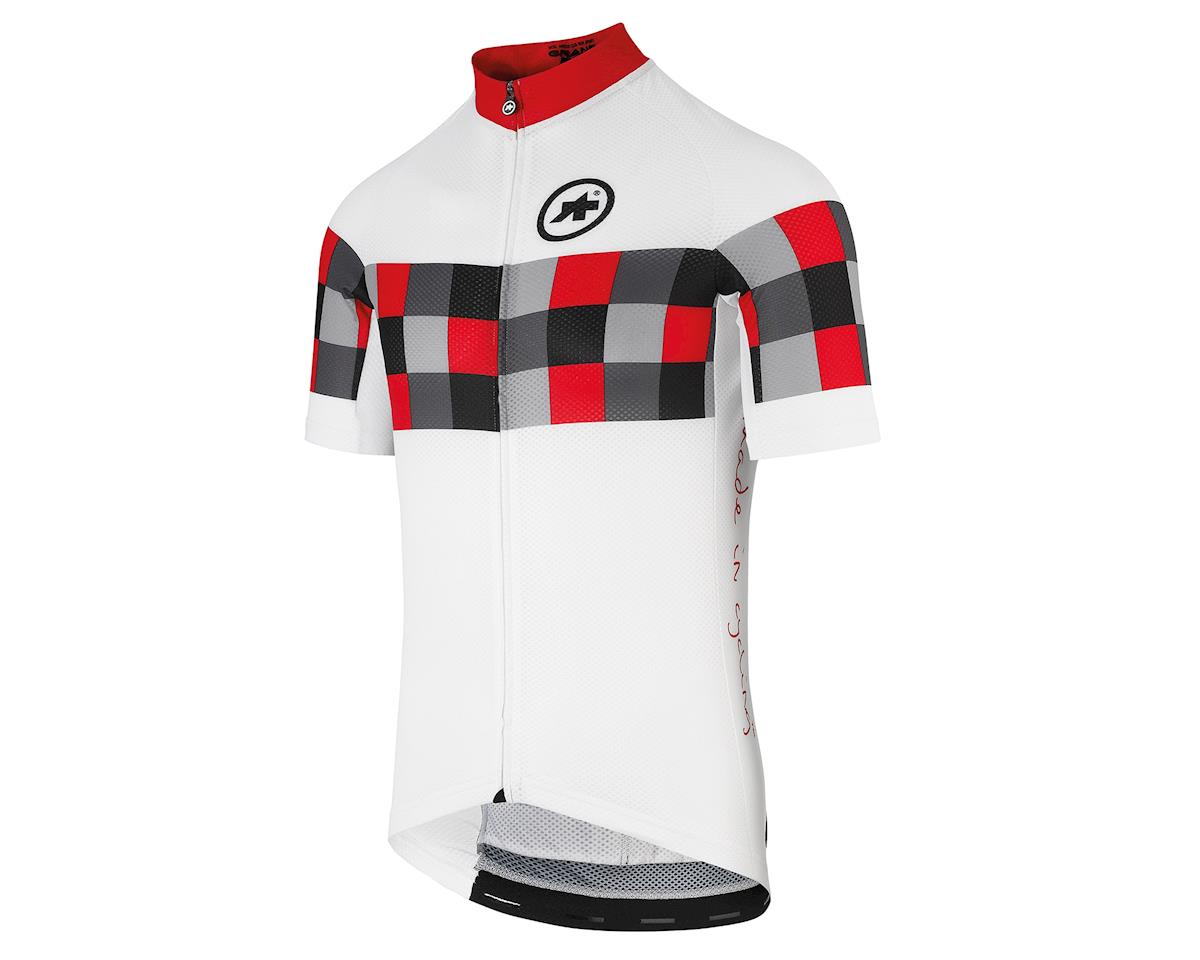 SCRATCH & DENT: Assos SS.grand prix evol8 Men's Jersey (National Red) (M)