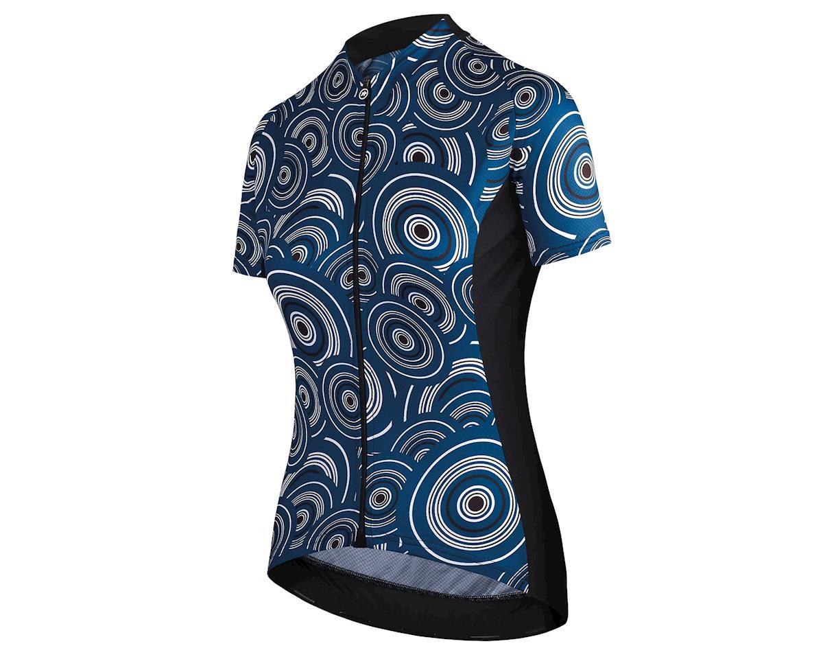 Assos UMA GT Women's Cycling Jersey (Camou caleumBlue) (L)