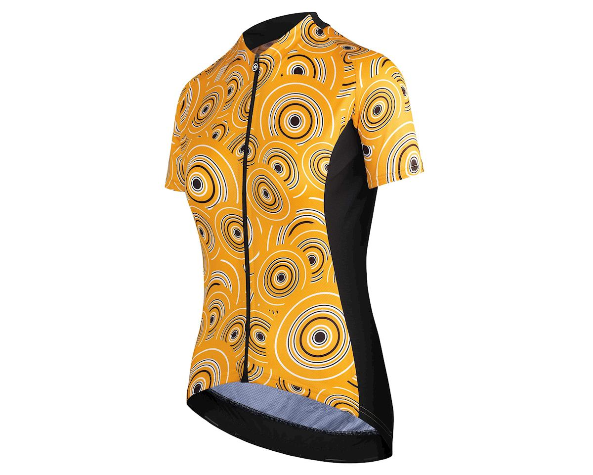 Assos UMA GT Women's Cycling Jersey (Camou Orange Borealis) (L)