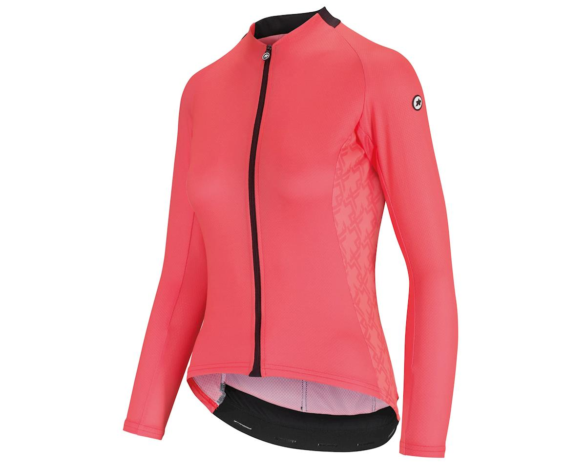 Assos UMA GT Women's Long Sleeve Summer Cycling Jersey (Galaxy Pink) (XL)