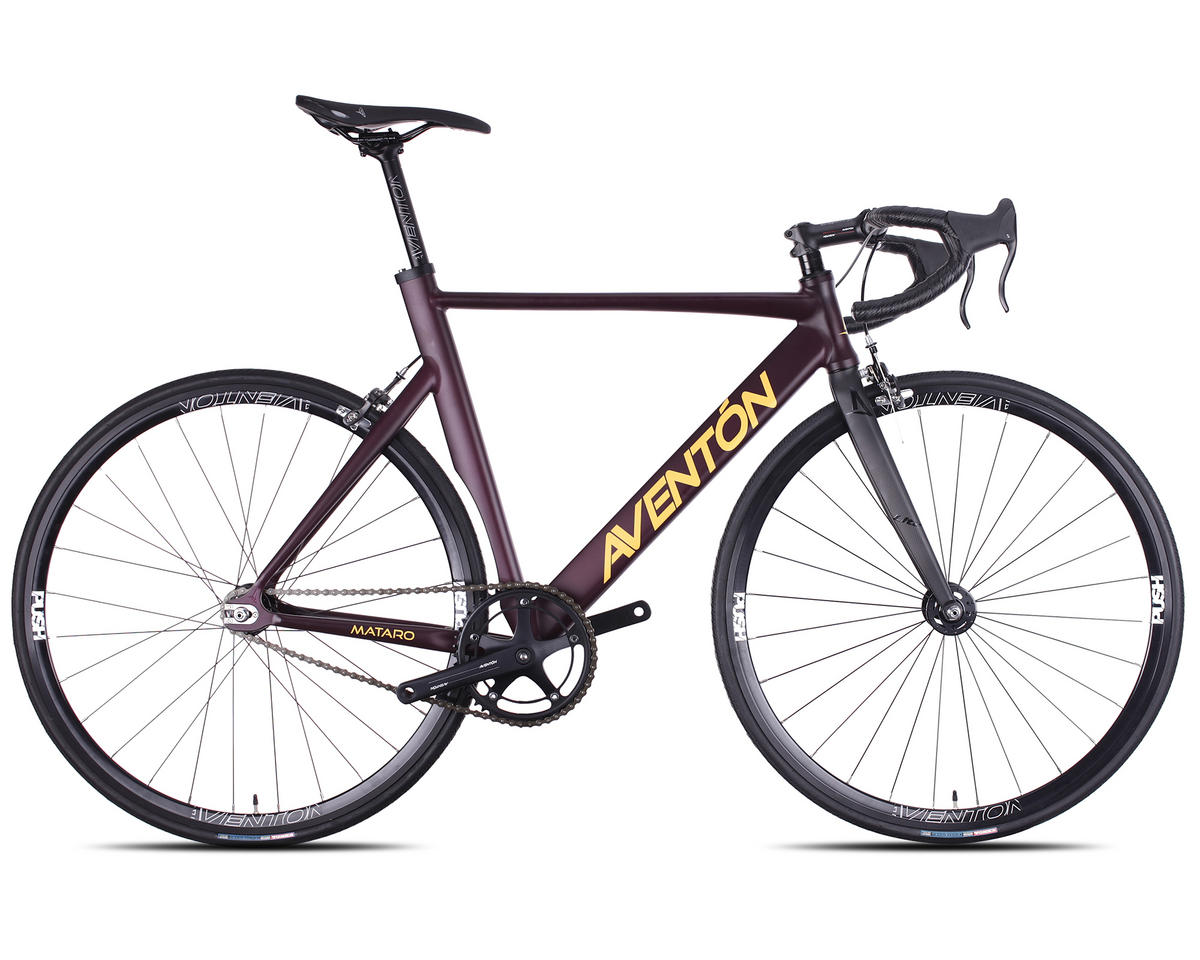 Aventon 2016 Mataro Complete Track Bike (Burgundy)