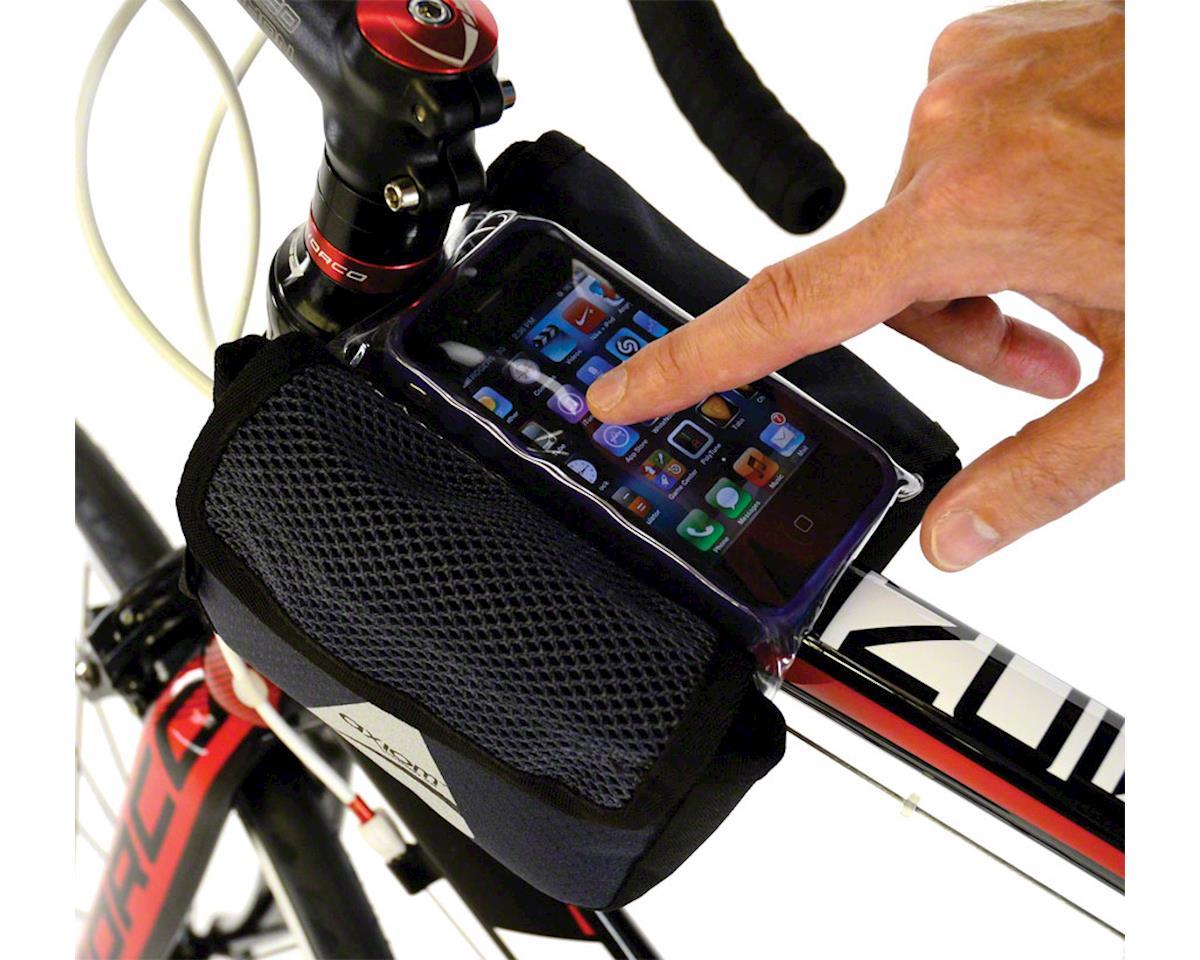 Axiom Smartbag Touch Top Tube/ Stem Bag: Black/Gray