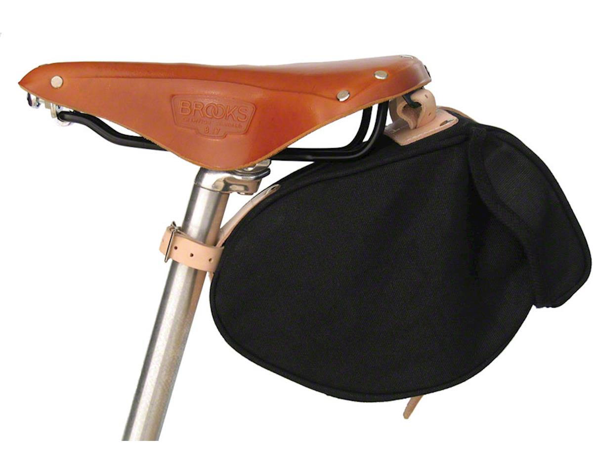 Banjo Brothers Minnehaha Canvas Saddle Bag: SM, Black