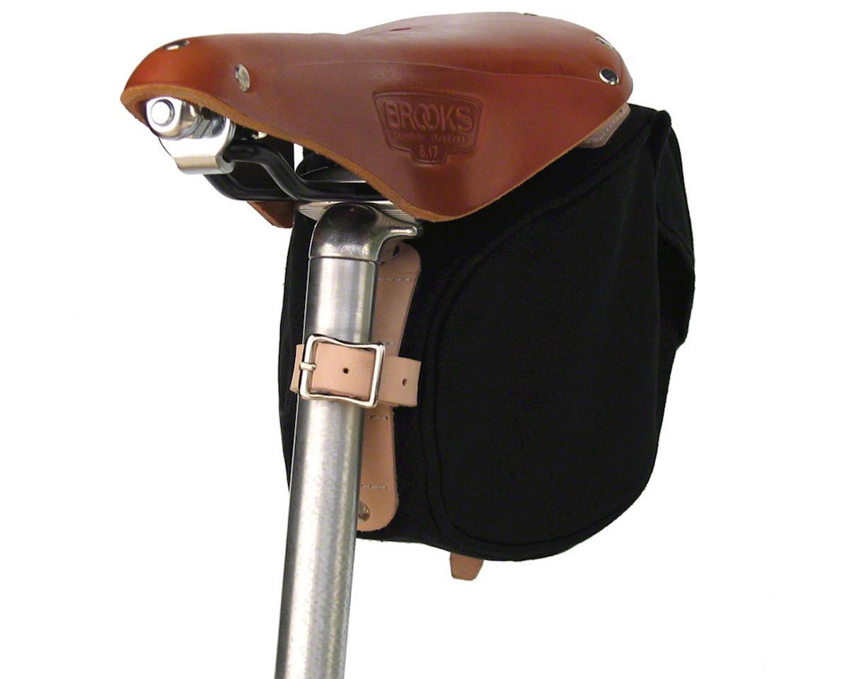 Banjo Brothers Minnehaha Canvas Saddle Bag: SM, Black [05001] | Accessories - AMain Cycling