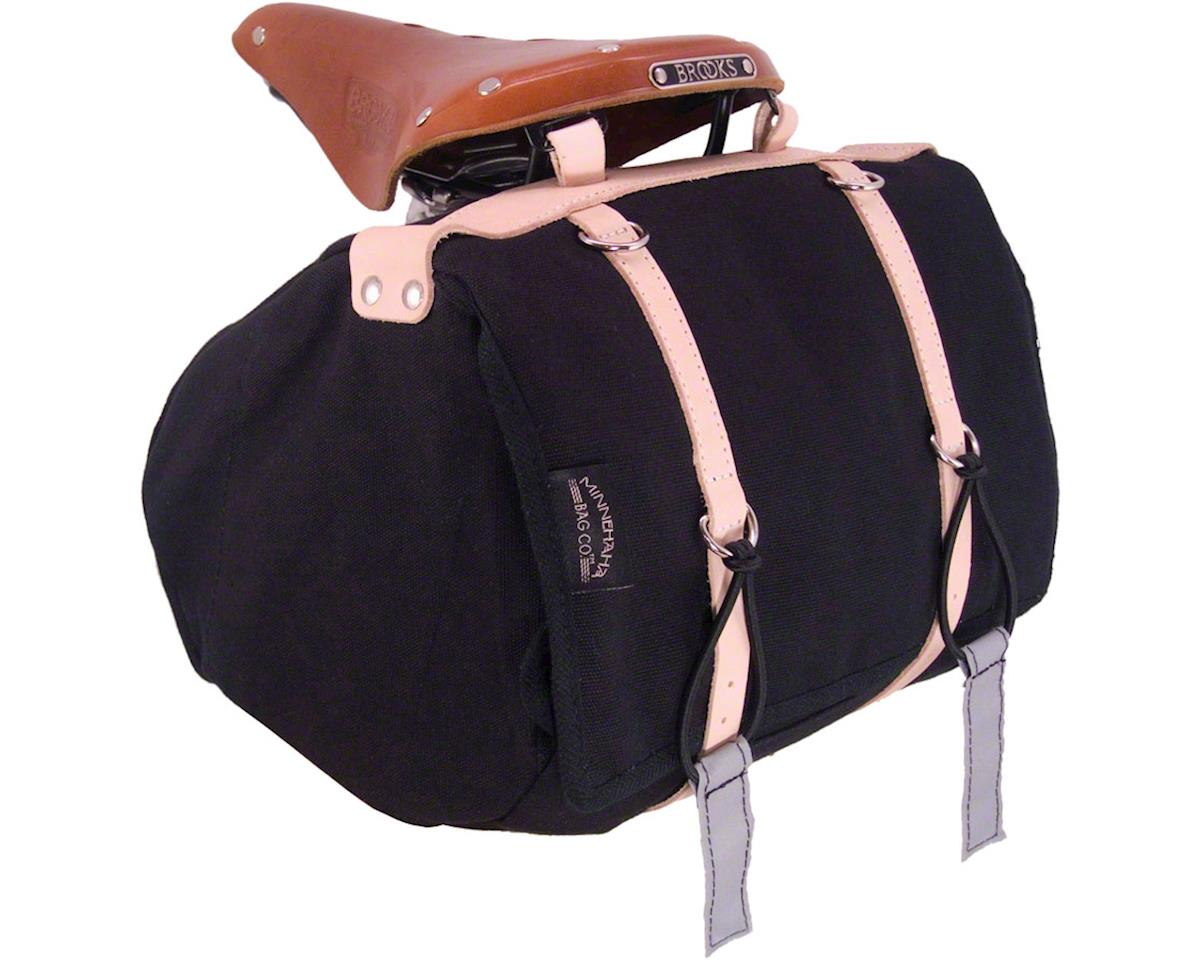Banjo Brothers Minnehaha Canvas Saddle Bag: MD, Black