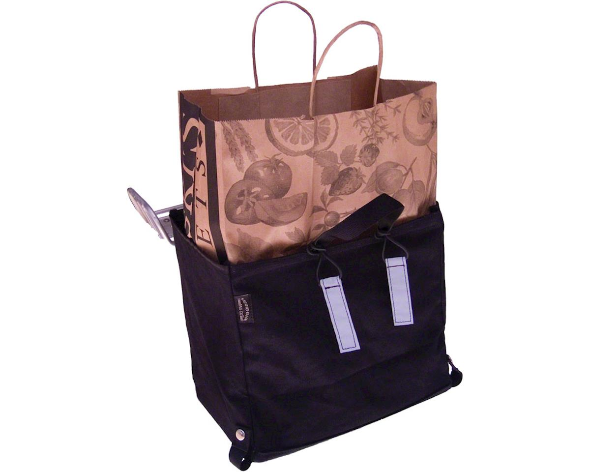 Image 2 for Banjo Brothers Minnehaha Canvas Grocery Pannier (Black)