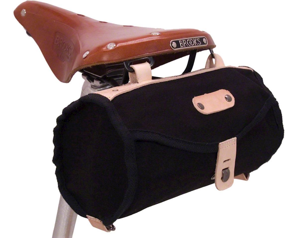 Banjo Brothers Minnehaha Canvas Barrel Saddle Bag: Black