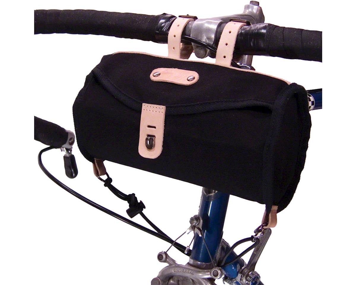 Banjo Brothers Minnehaha Canvas Barrel Saddle Bag (Black)