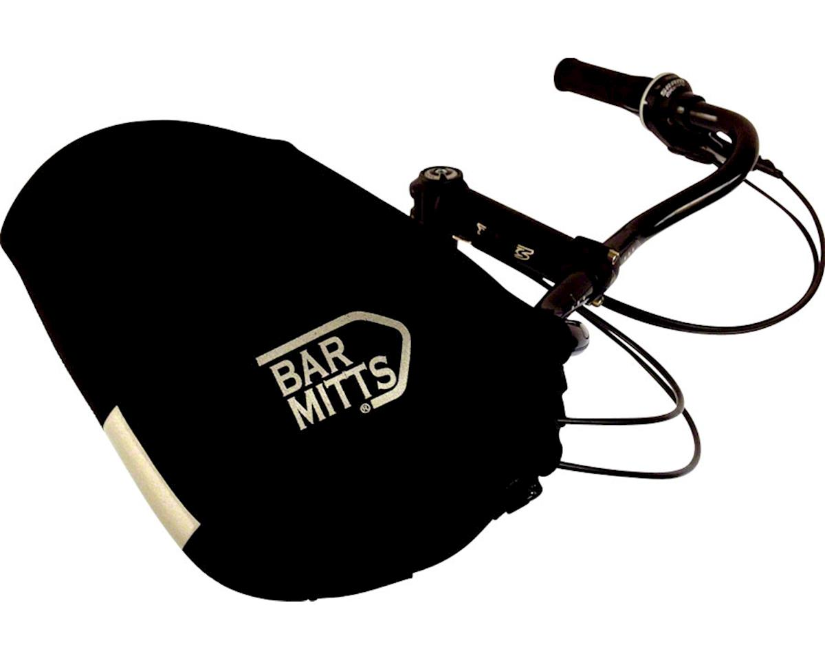 Bar Mitts Mustache / Townie Pogie Handlebar Mittens: One Size, Black