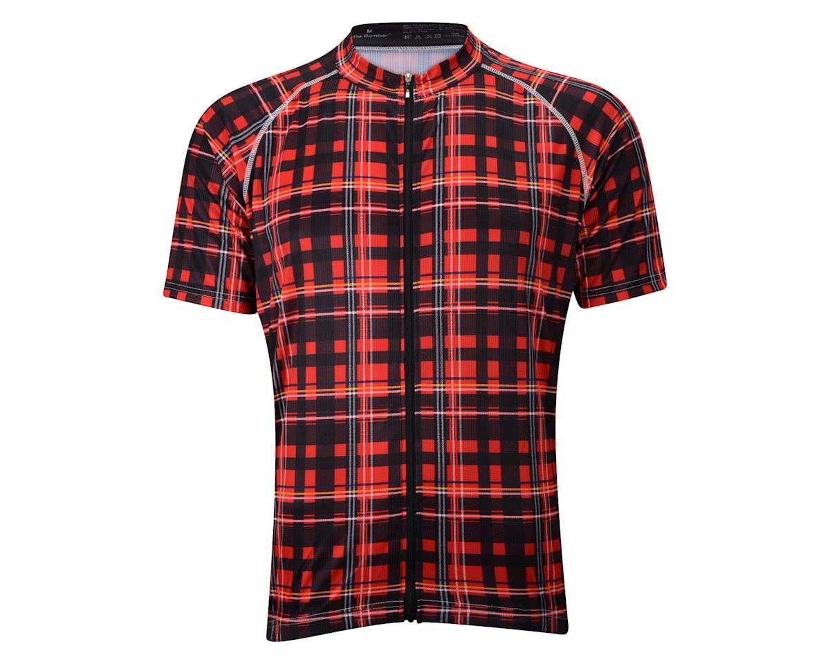 Belch Red Plaid Short Sleeve Jersey (Red)