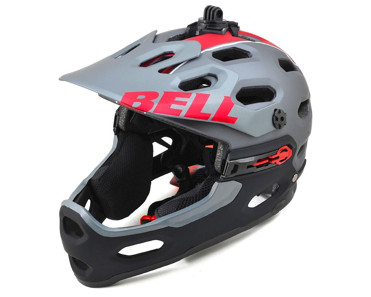 Bell Super 2R MTB Helmet (Matte Titanium/Red Viper)