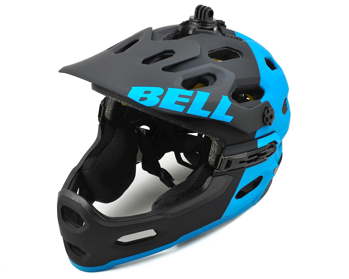 Bell Super 2R MIPS MTB Helmet (Matte Black/Blue Aggression) (L)