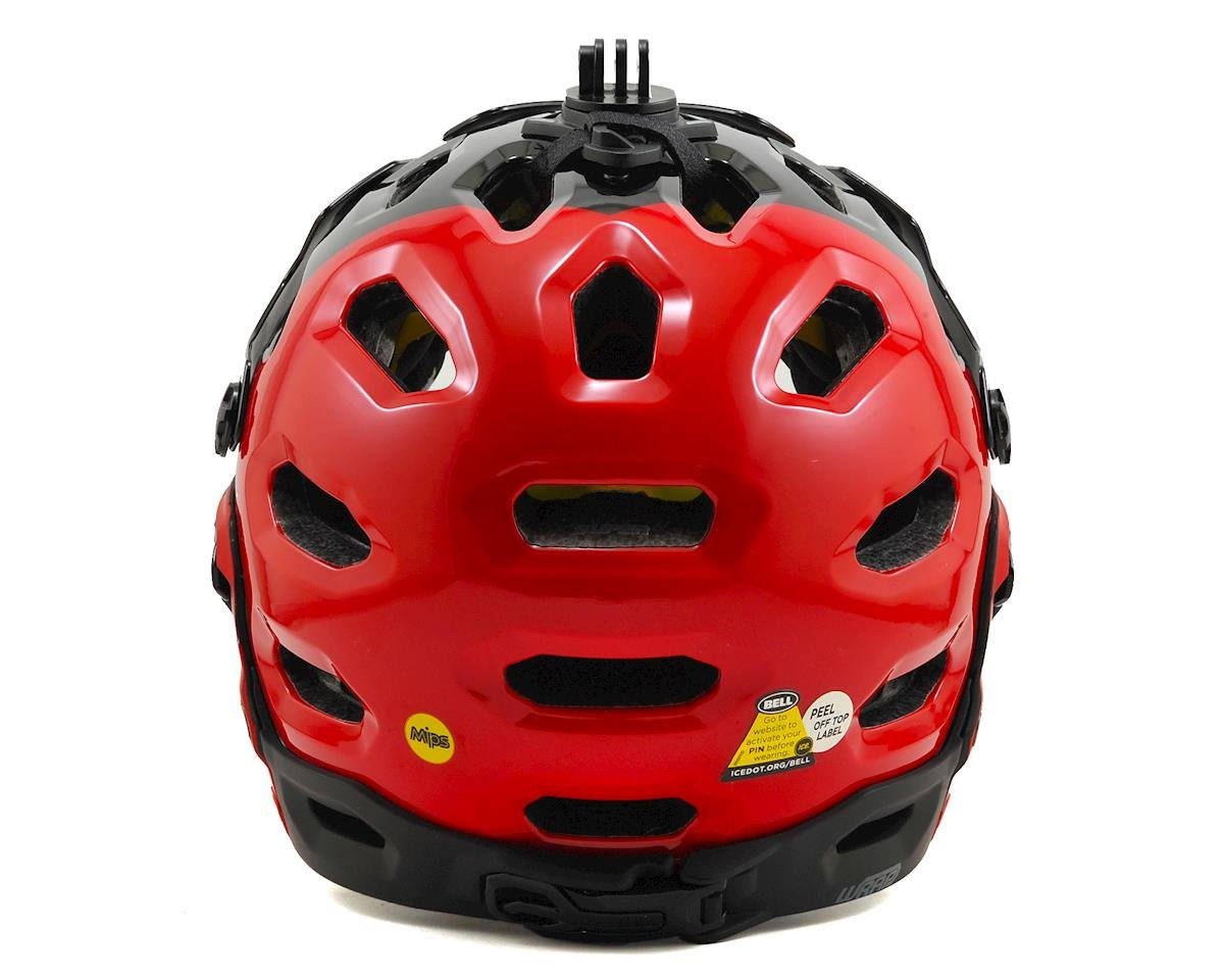 Bell Super 2R MIPS MTB Helmet (Red/Black Aggression)