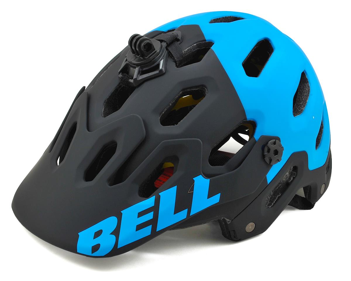 Bell Super 2 MIPS MTB Helmet (Matte Black/Blue Aggression) (L)