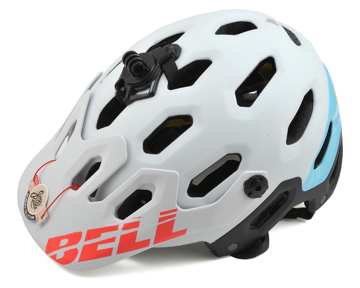 Bell Super 2 MIPS Joyride Women's MTB Helmet (Matte White/Glacier Blue Sonic) (M)