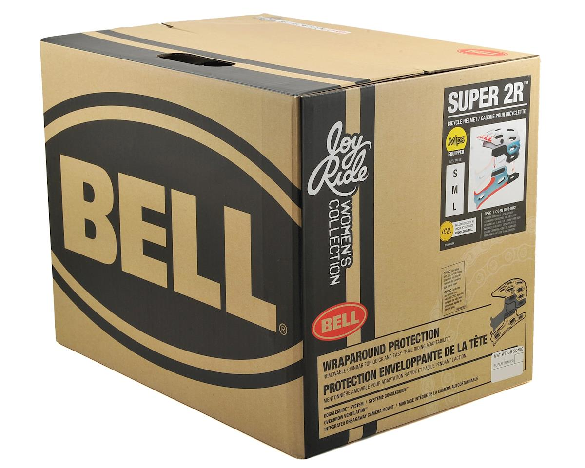 Bell Super 2R MIPS Joyride Women's MTB Helmet (Matte White/Glacier Blue Sonic) (L)