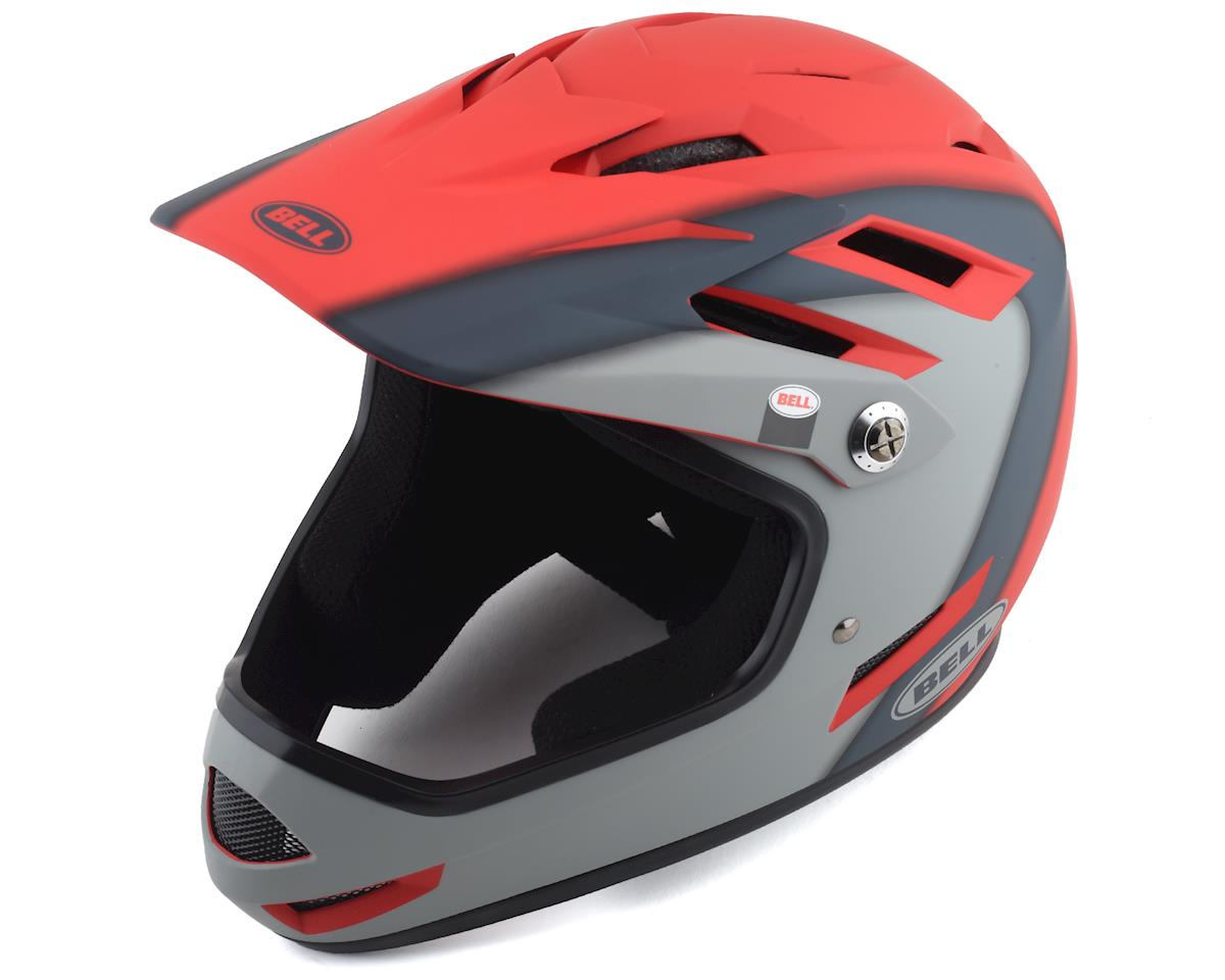 Bell Sanction Helmet (Crimson/Slate/Dark Grey) (L)