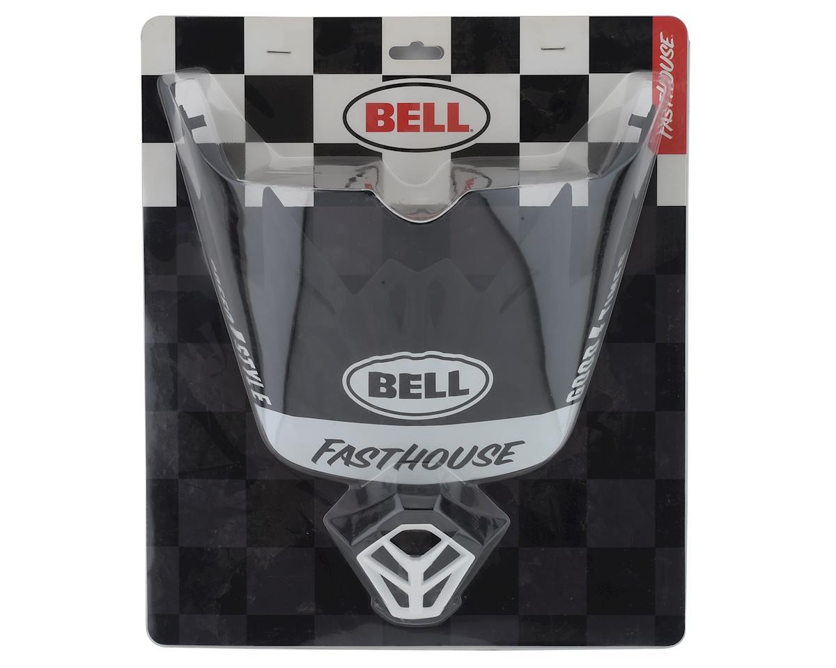 Bell Full-9 Replacement Visor Combo (Matte Black/White)