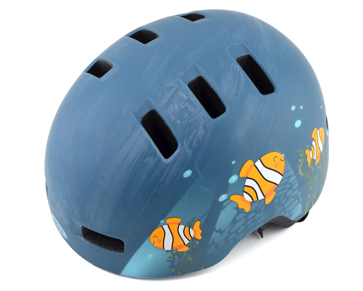 Bell Lil Ripper (Matte Grey/Blue Fish) (Universal Child)