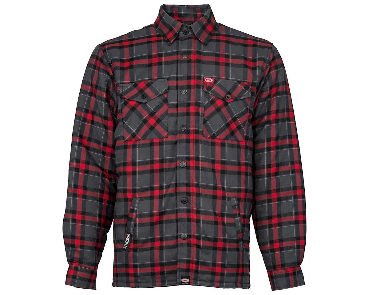 Bell Dixxon X Flannel Jacket (Grey/Red) (2XL)