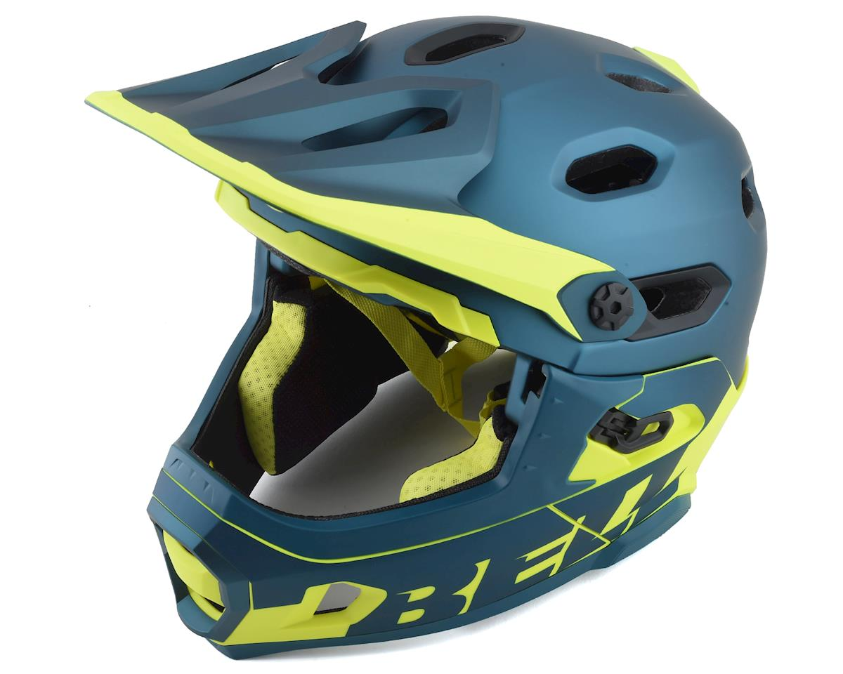 Bell Super DH MIPS Helmet (Blue/Hi Viz) (S)