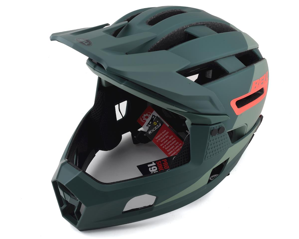 Bell Super Air R MIPS Helmet (Green/Infrared) (S)