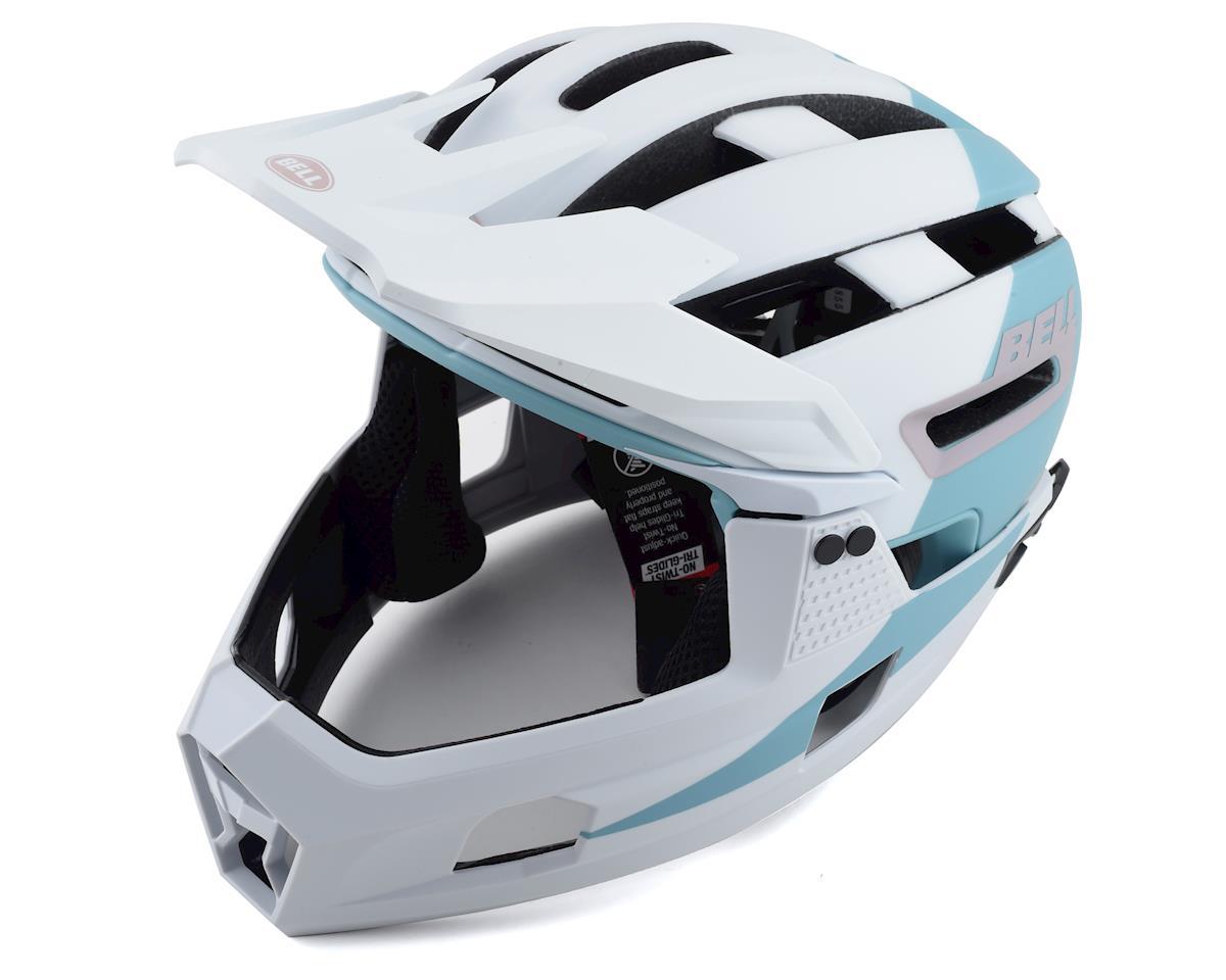Bell Super Air R MIPS Helmet (White/Purple) (L)