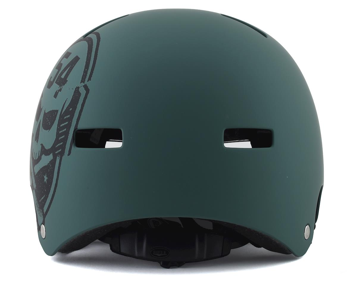 Bell Local BMX Helmet (Matte Green/Black Skull) (S)