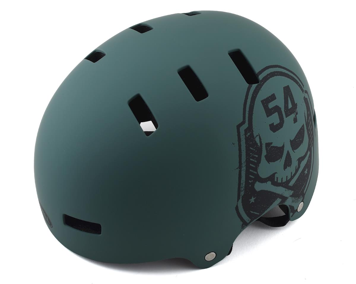 Bell Local BMX Helmet (Matte Green/Black Skull) (M)