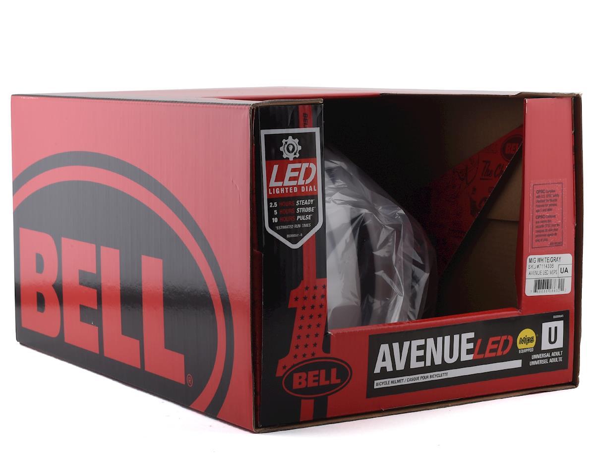 Image 5 for Bell Avenue LED MIPS Helmet (White/Grey) (Universal Adult)