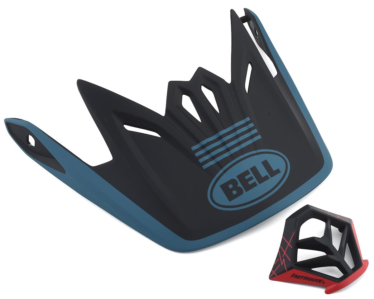 Bell Full-9 Replacement Visor Combo (Matte Blue/Black)