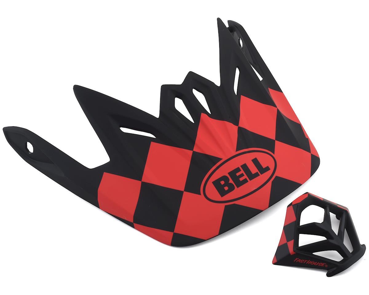 Bell Full-9 Replacement Visor Combo (Matte Red/Black)