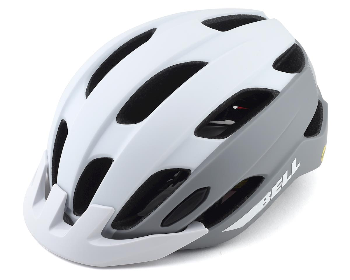 Bell Trace MIPS LED Helmet (Matte White/Silver) (Universal Adult)