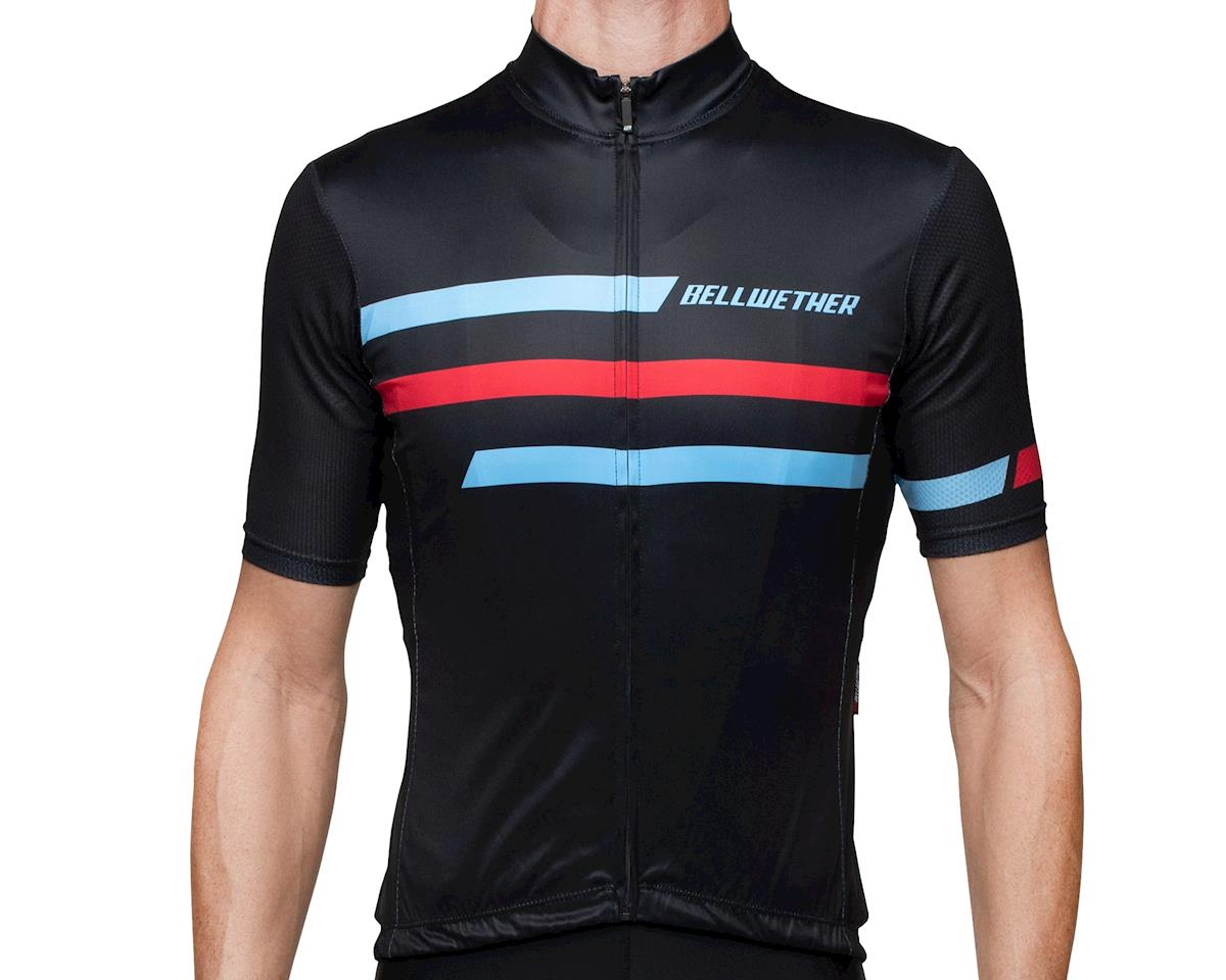 Bellwether Edge Cycling Jersey (Black/Blue/Red) (2XL)