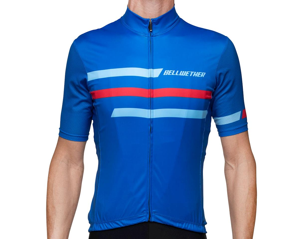 Bellwether Edge Cycling Jersey (True Blue/Red) (L)