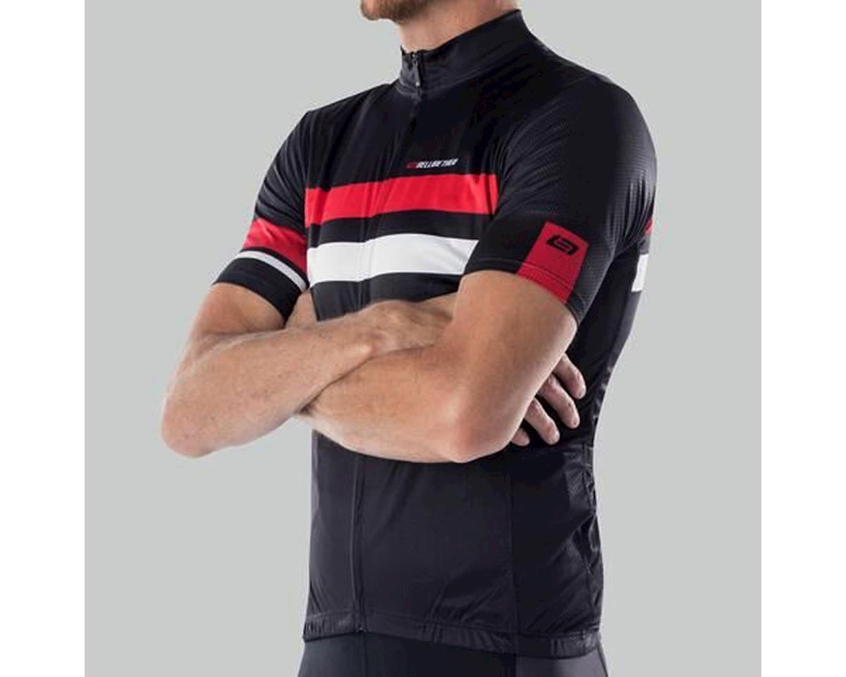 Bellwether Edge Cycling Jersey (Black/Red/White) (M)