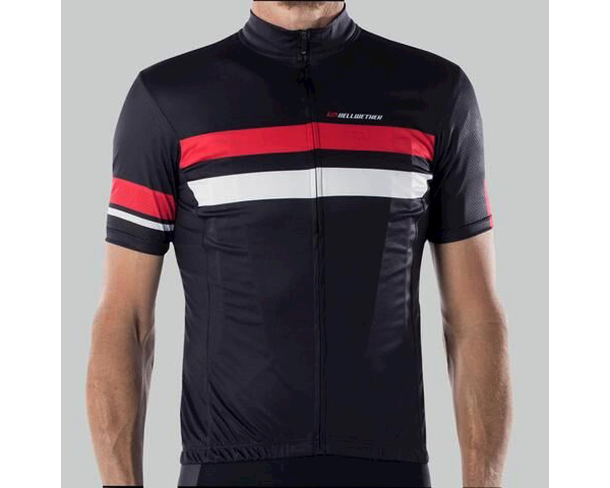 Bellwether Edge Cycling Jersey (Black/Red/White) (L)