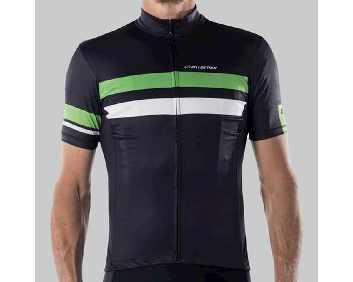 Bellwether Edge Cycling Jersey (Black/Citrus/White) (XL)