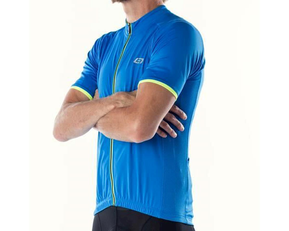 Bellwether Criterium Pro Cycling Jersey (Cyan Blue/Yellow) (L)