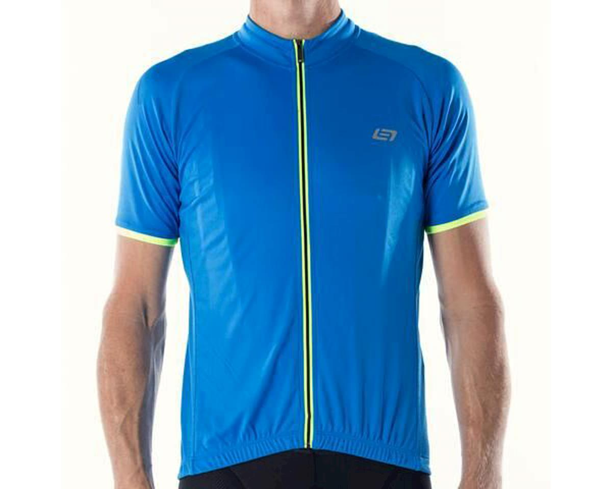 Bellwether Criterium Pro Cycling Jersey (Cyan Blue/Yellow) (XL)