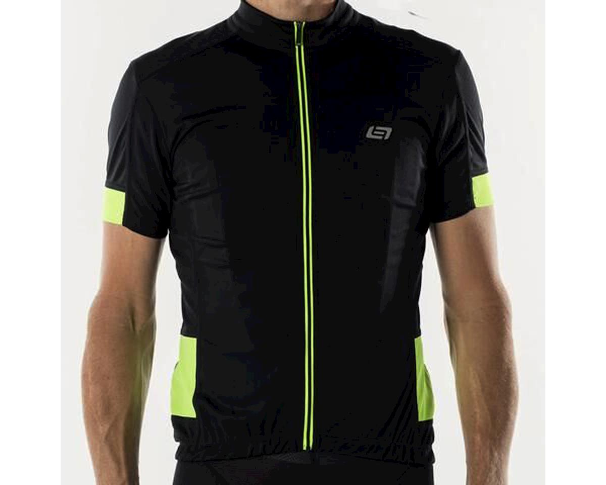 Bellwether Distance Cycling Jersey (Black/High Vis) (S)